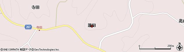 岩手県一関市千厩町磐清水蓬田周辺の地図