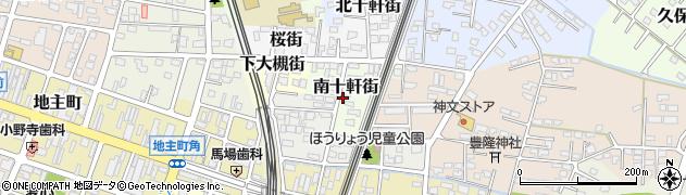 岩手県一関市南十軒街周辺の地図