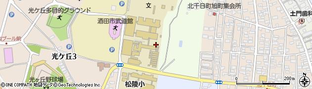 山形県酒田市北千日堂前松境9周辺の地図