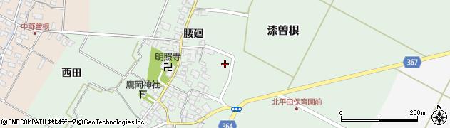 山形県酒田市漆曽根腰廻37周辺の地図