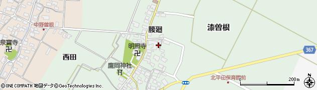 山形県酒田市漆曽根腰廻34周辺の地図