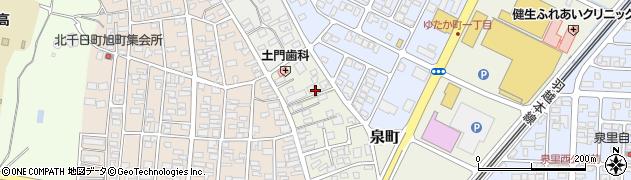 山形県酒田市泉町11周辺の地図