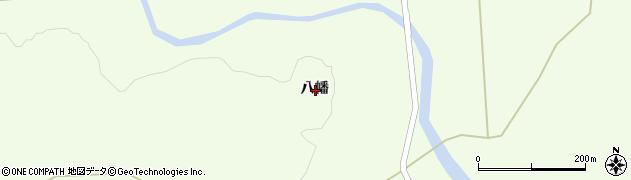 岩手県一関市萩荘八幡周辺の地図