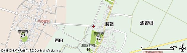 山形県酒田市漆曽根腰廻242周辺の地図
