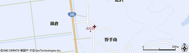山形県酒田市北沢野手南120周辺の地図