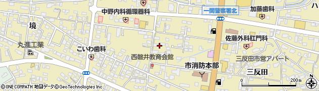 岩手県一関市山目中野周辺の地図