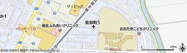 山形県酒田市東泉町5丁目周辺の地図