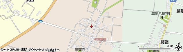 山形県酒田市中野曽根西田13周辺の地図
