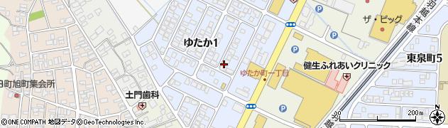 山形県酒田市ゆたか1丁目周辺の地図