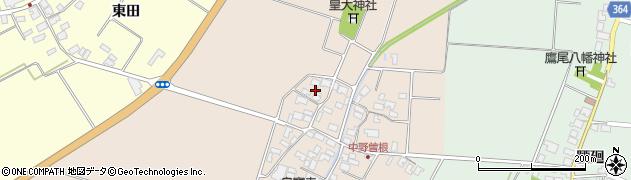 山形県酒田市中野曽根西田56周辺の地図