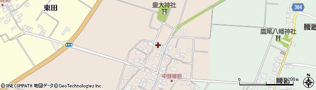 山形県酒田市中野曽根西田53周辺の地図