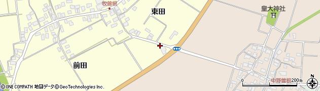 山形県酒田市牧曽根前田81周辺の地図