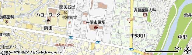 岩手県一関市周辺の地図