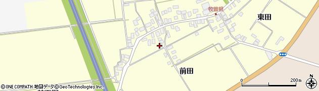 山形県酒田市牧曽根前田26周辺の地図