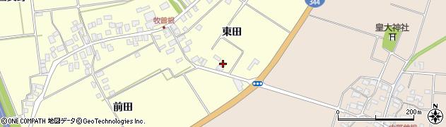 山形県酒田市牧曽根東田97周辺の地図