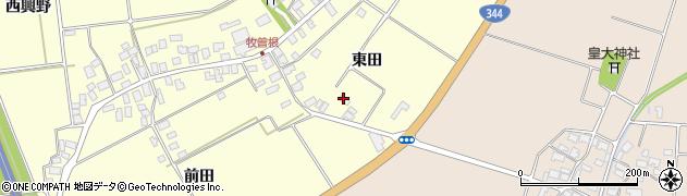 山形県酒田市牧曽根東田99周辺の地図