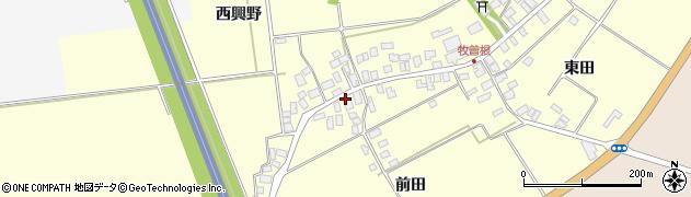 山形県酒田市牧曽根前田63周辺の地図