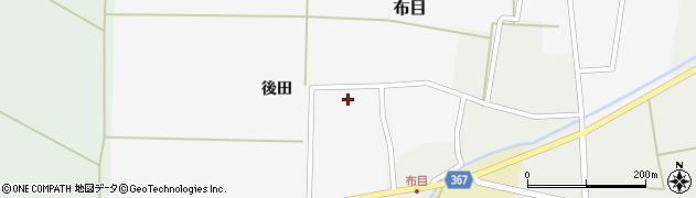 山形県酒田市布目後田31周辺の地図