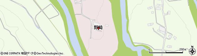 岩手県一関市厳美町野崎周辺の地図