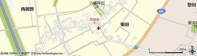 山形県酒田市牧曽根東田64周辺の地図