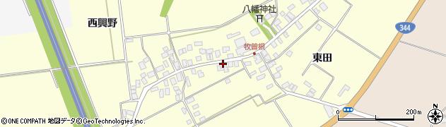 山形県酒田市牧曽根前田42周辺の地図