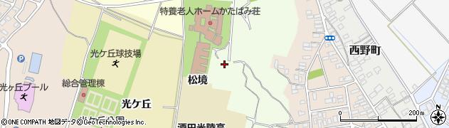山形県酒田市北千日堂前松境周辺の地図