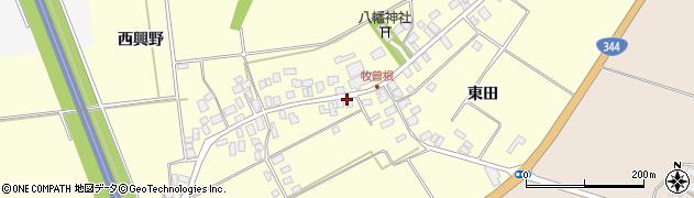 山形県酒田市牧曽根前田41周辺の地図