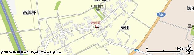 山形県酒田市牧曽根東田68周辺の地図