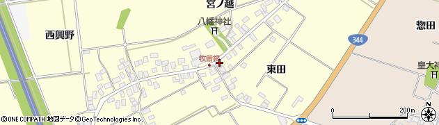 山形県酒田市牧曽根東田20周辺の地図