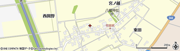山形県酒田市牧曽根宮ノ越80周辺の地図