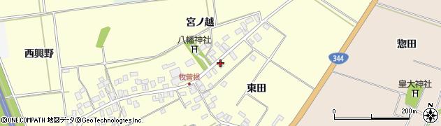 山形県酒田市牧曽根東田11周辺の地図