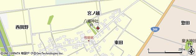 山形県酒田市牧曽根宮ノ越122周辺の地図