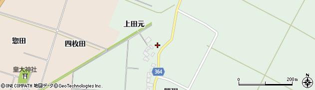 山形県酒田市漆曽根腰廻167周辺の地図
