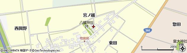 山形県酒田市牧曽根宮ノ越124周辺の地図