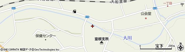 大川周辺の地図