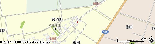 山形県酒田市牧曽根大坪18周辺の地図