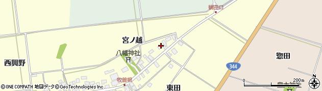 山形県酒田市牧曽根宮ノ越132周辺の地図