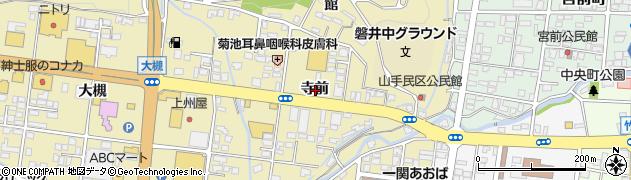 岩手県一関市山目寺前周辺の地図