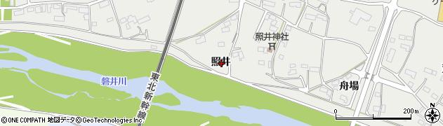 岩手県一関市中里照井周辺の地図