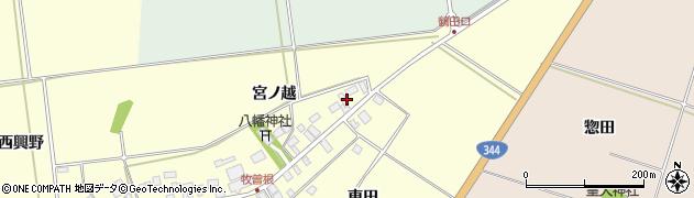 山形県酒田市牧曽根宮ノ越38周辺の地図