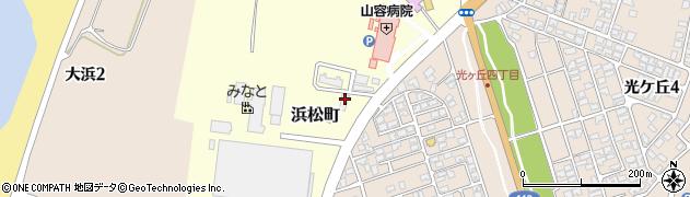 山形県酒田市浜松町76周辺の地図