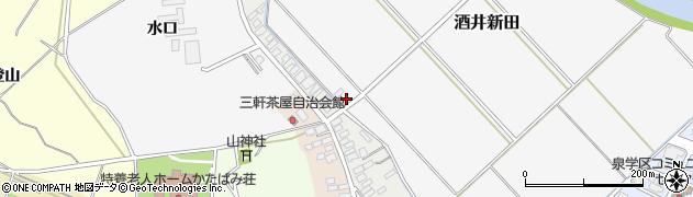 山形県酒田市酒井新田水口周辺の地図