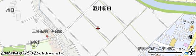 山形県酒田市酒井新田堰下周辺の地図