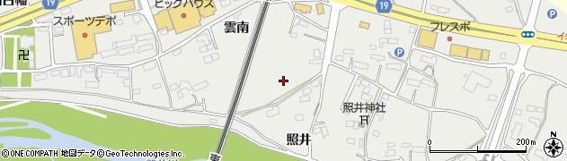 岩手県一関市中里(雲南)周辺の地図