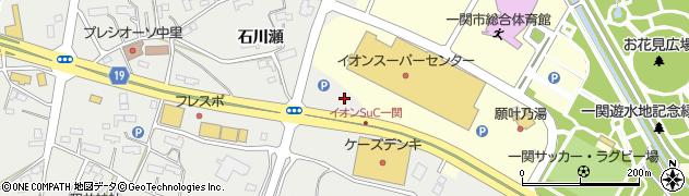 岩手県一関市中里川原周辺の地図