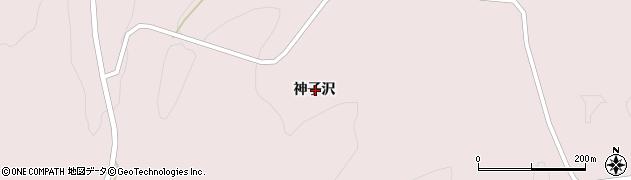 岩手県一関市千厩町磐清水神子沢周辺の地図