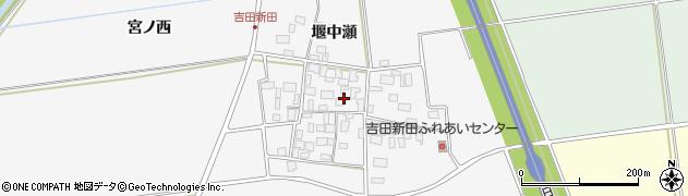 山形県酒田市吉田新田堰中瀬17周辺の地図