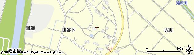岩手県一関市狐禅寺田谷下周辺の地図