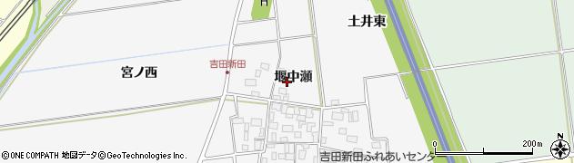 山形県酒田市吉田新田堰中瀬40周辺の地図