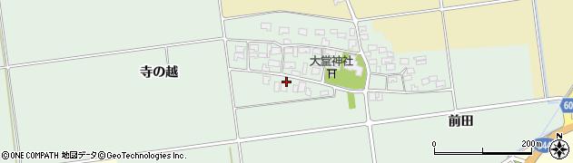 山形県酒田市鶴田寺の越14周辺の地図